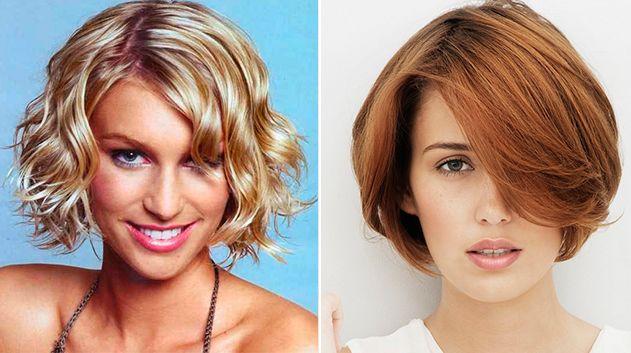 Corte de pelo liso mujer cara alargada