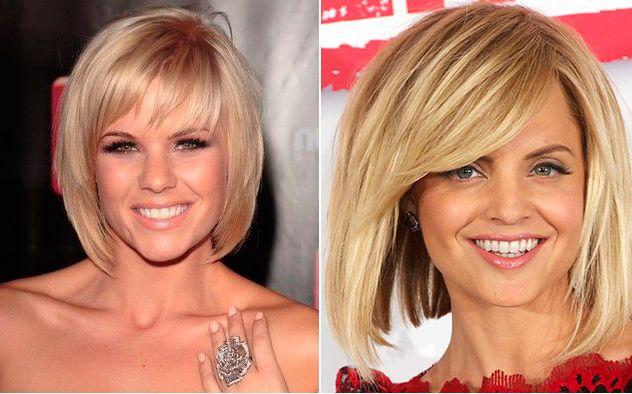 Corte pelo corto cara larga