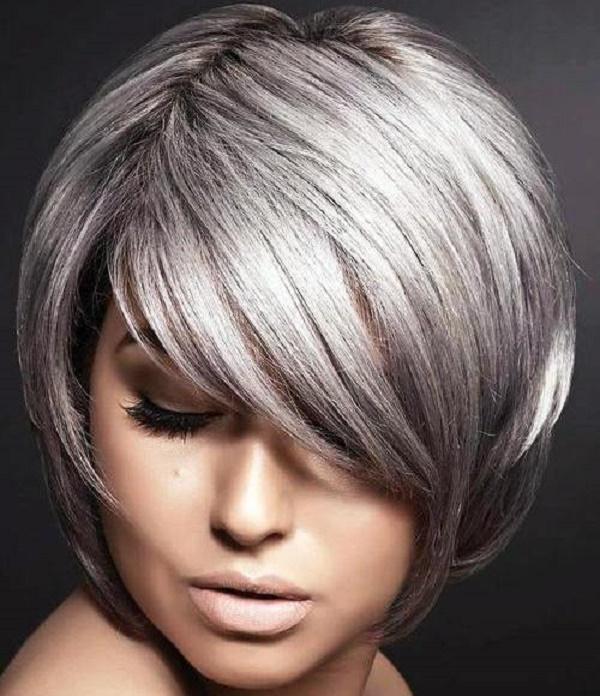 Peinado plata bob