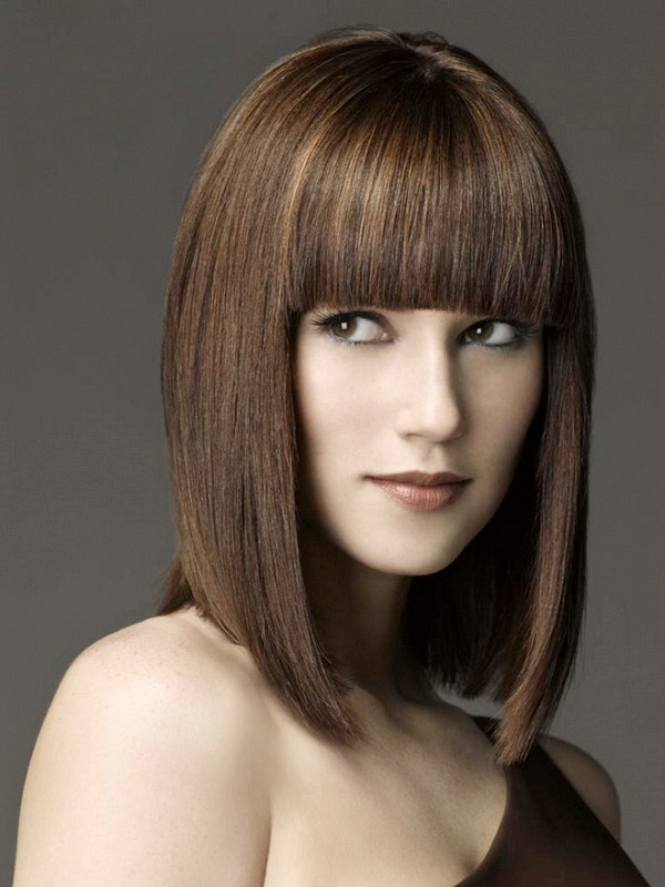 Corte de cabello flequillo recto