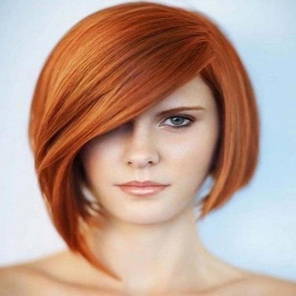 corte de cabello asimetrico con flequillo