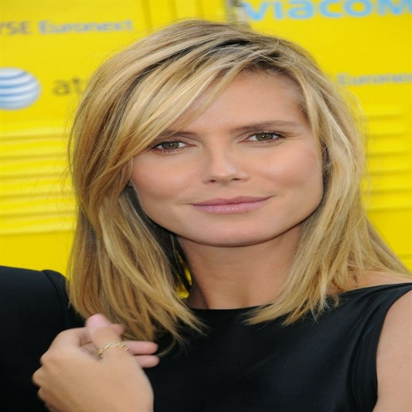 Heidi klum media melena cabello degrafilado