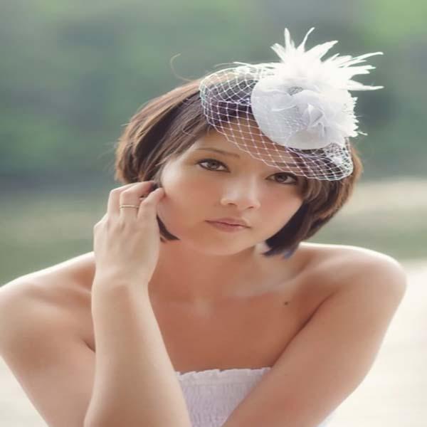 Bonito y sencillo peinados para boda pelo corto Fotos de tendencias de color de pelo - 46 ideas de peinados boda pelo corto - Sobre El Cabello