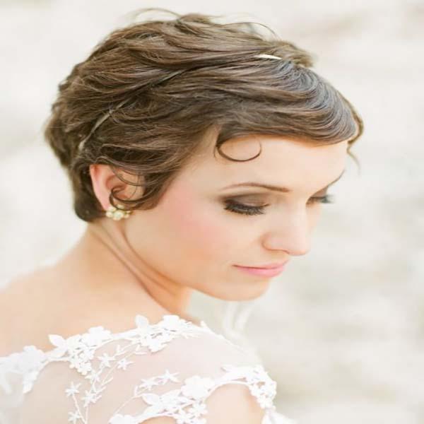 Extremadamente atractivo peinados para boda con pelo corto Imagen de ideas de color de pelo - 46 ideas de peinados boda pelo corto - Sobre El Cabello