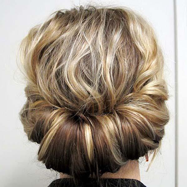Peinado recogido media melena