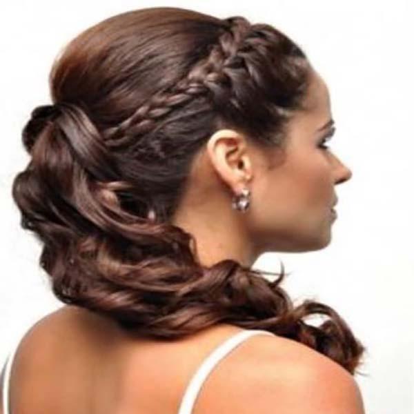 35 ideas de peinados boda media melena sobre el cabello - Peinados media melena recta ...