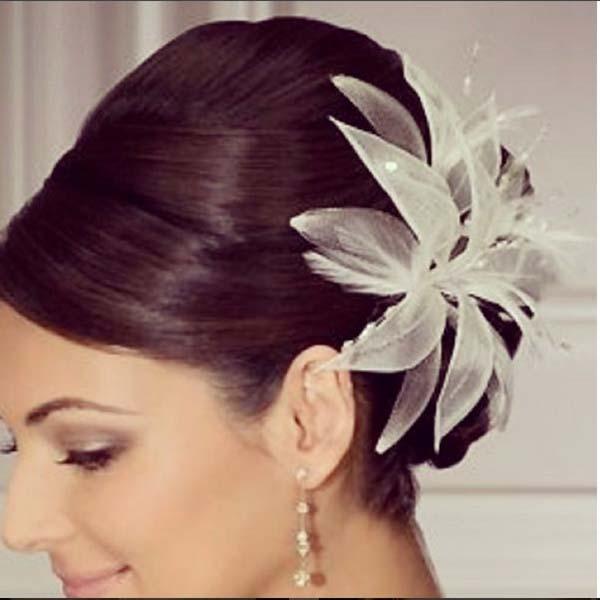35 ideas de peinados boda media melena sobre el cabello - Peinados melena corta ...